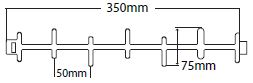 350mm Bolster Deck Rail